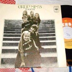 Discos de vinilo: GRUPO NIN'S SINGLE CANTA 1976. Lote 95379931