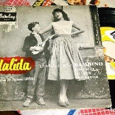 Discos de vinilo: DALIDA EP BAMBINO + 3.FRANCIA. Lote 95391527
