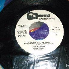 Discos de vinilo: LINA MORGAN SINGLE PROMOCIONAL LA TONTA DEL BOTE.1970. Lote 95391647