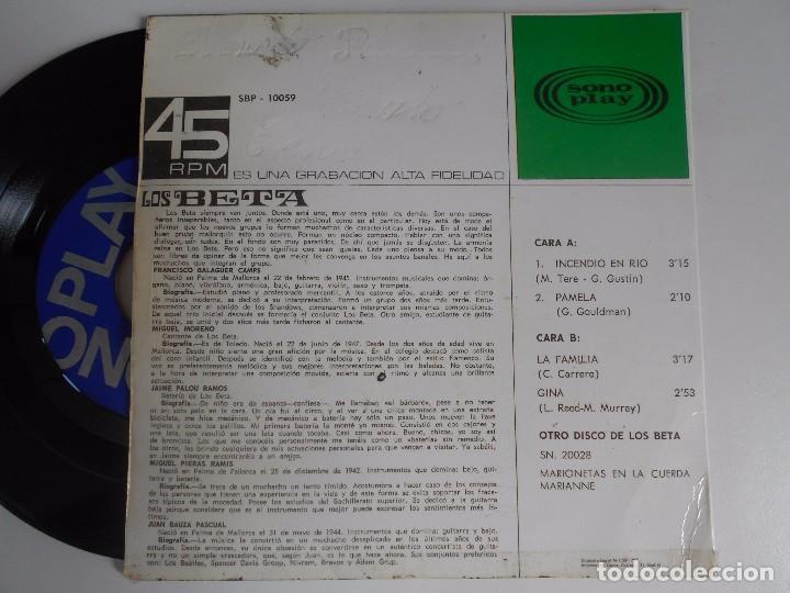 Discos de vinilo: LOS BETA-EP INCENDIO EN RIO +3 - Foto 2 - 95398251
