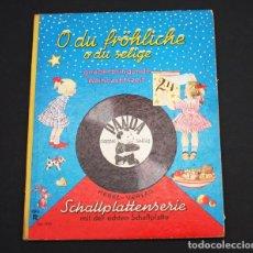 Discos de vinilo: PRECIOSO EP DISCO LIBRO ALEMAN PANDA CON VILLANCICOS (NOCHE DE PAZ) AÑOS 60 TAPA DURA VINILO SINGLE. Lote 95405715