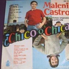 Discos de vinilo: MALENI CASTRO LP HISPAVOX 1962 - BSO ¿CHICO O CHICA? - FLAMENCO - ALEGRIAS - BOLERO - FANDANGOS. Lote 95407435