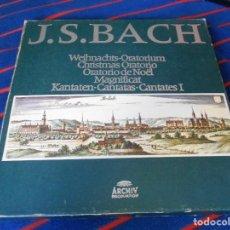 Discos de vinilo: J. S. BACH. WEIHNACHTS-ORATORIUM. CHRISTMAS ORATORIO. ORATORIO DE NOËL. MAGNIFICAT. KANTATEN. CANTAT. Lote 95417231
