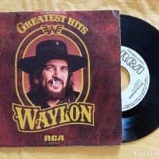 Discos de vinilo: WAYLON JENNINGS, I'M A RAMBLIN' MAN +3 (RCA) SINGLE EP PROMOCIONAL ESPAÑA - GREATEST HITS AMANDA. Lote 95419895