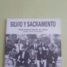 Discos de vinilo: SINGLE PROMOCIONAL SILVIO Y SACRAMENTO. TRES PASOS HACIA EL CIELO. MANO NEGRA RECORDS.. Lote 95420203