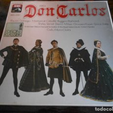 Discos de vinilo: DON CARLOS. VERDI. EMI. CAJA CON 4 LP'S. 1080 GRAMOS.. Lote 95426127