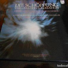 Discos de vinilo: DIE SCHÖPFUNG. THE CREATION. LA CREATION. PHILIPS. CAJA CON 2 LP'S. 710 GRAMOS.. Lote 95426351