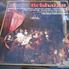 Discos de vinilo: HANDEL. BELSHAZZAR. TELEFUNKEN. CAJA CON 4 LP'S. 900 GRAMOS.. Lote 95426599