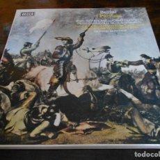 Discos de vinilo: I PURITANI. BELLINI. DECCA. LUCIANO PAVAROTTI . CAJA CON 3 LP'S. 920 GRAMOS.. Lote 95426723