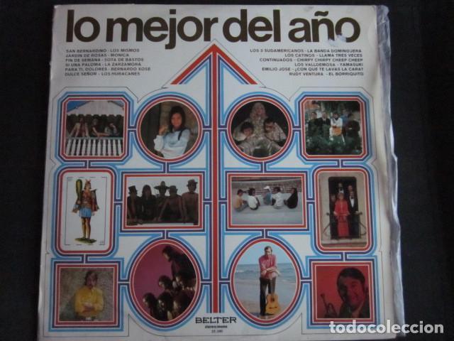 LO MEJOR DEL AÑO - LP - LOS HURACANES,LOS MISMOS,MONICA,CONTINUADOS,LOS CATINOS,ETC. (Música - Discos - LP Vinilo - Grupos Españoles de los 70 y 80)