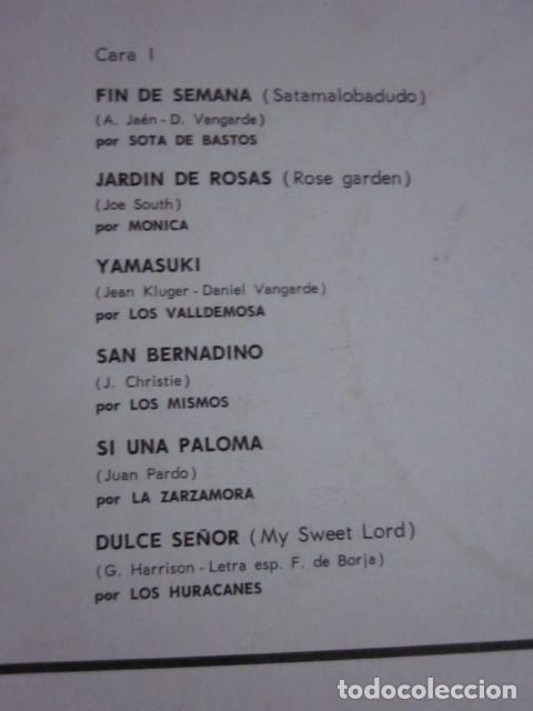 Discos de vinilo: LO MEJOR DEL AÑO - LP - LOS HURACANES,LOS MISMOS,MONICA,CONTINUADOS,LOS CATINOS,ETC. - Foto 3 - 95438135