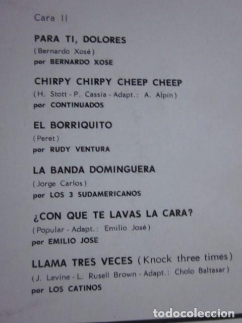 Discos de vinilo: LO MEJOR DEL AÑO - LP - LOS HURACANES,LOS MISMOS,MONICA,CONTINUADOS,LOS CATINOS,ETC. - Foto 4 - 95438135