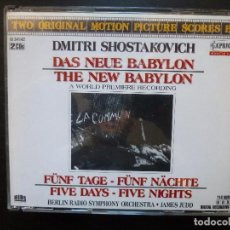 Discos de vinilo: DMITRI SHOSTAKOVICH DAS NEUE BABYLON CAPRICCCIO 2CD 1990. Lote 95449803