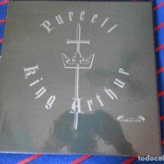 Discos de vinilo: KING ARTHUR. PURCELL. CAJA CON 2 LP'S. 640 GRAMOS.. Lote 95450399