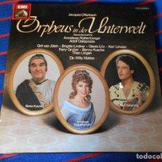 Discos de vinil: ORPHEUS IN DER UNTERWELT. JACQUES OFFENBACH. EMI. CAJA CON 2 LP'S. 650 GRAMOS.. Lote 95450783