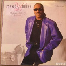 Discos de vinilo: STEVIE WONDER – MY EYES DON'T CRY - MOTOWN 1988 - MAXI - P -. Lote 95452135