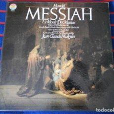 Discos de vinilo: HÄNDEL. MESSIAH. DER MESSIAS. LE MESSIE. CBS. CAJA CON 3 LP'S. 830 GRAMOS.. Lote 95453667