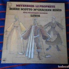 Discos de vinilo: MEYERBEER: LE PROPHETE. CBS. CAJA CON 4 LP'S. 1150 GRAMOS.. Lote 95453855