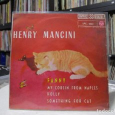 Discos de vinilo: HENRY MANCINI / FANNY / HOLLY / SOMETHING FOR CAT + 1 (EP 1962) 33 RPM. Lote 95488611