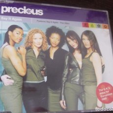 Discos de vinilo: PRECIOUS. SAY IT AGAIN. THE U.K.'S ENTRY FOR EUROVISION 1999. CD PROMOCIONAL 3 TEMAS + VIDEO. Lote 95490539