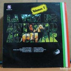 Discos de vinilo: ANTONIO AGUILAR BARRAZA - LA VOZ DE ANTONIO AGUILAR VOLUMEN 2 - ZAFIRO-MUSART ML-87 - 1980. Lote 95491223