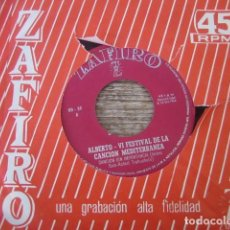 Discos de vinilo: ALBERTO - CANCIÓN SIN IMPORTANCIA ******* RARO SINGLE PROMO 1964. Lote 95496683