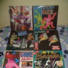 Discos de vinilo: LOTE 6 DISCOS DE VINILO: HOLYDAY MIX, TOP MIX, MATRICULA MIX, DANCE MIX, DANCE MIX 2 Y MIX BACALAO 2. Lote 95497167