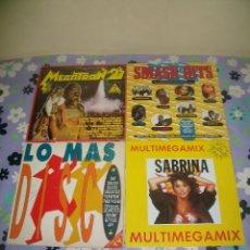 Discos de vinilo: LOTE 4 DISCOS DE VINILO: MEGATRON 2, SMASH HITS, LO MÁS DISCO Y SABRINA MULTIMEGAMIX. Lote 95497323