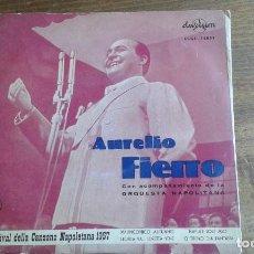 Discos de vinilo: DISCO DE VINILO DE AURELIO FIERRO 5º FESTIVAL DELLA CANZONE NAPOLETANA 1957. Lote 95507831