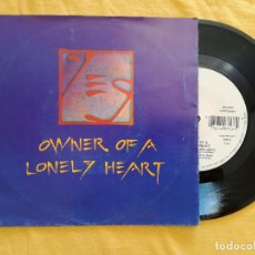 Disques de vinyle: YES, OWNER OF A LONELY HEART (ATCO) SINGLE. Lote 95510783