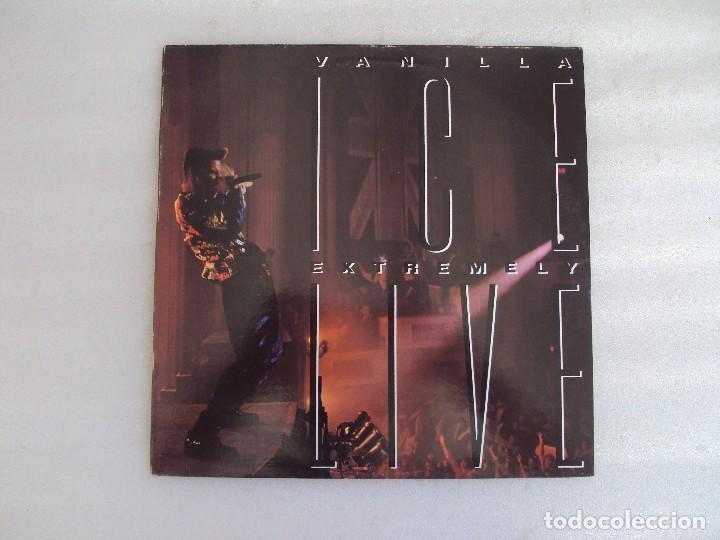 VANILLA ICE, EXTREMELY LIVE, LP EDICION ESPAÑOLA 1991, HISPA-VOX (Música - Discos - LP Vinilo - Rap / Hip Hop)