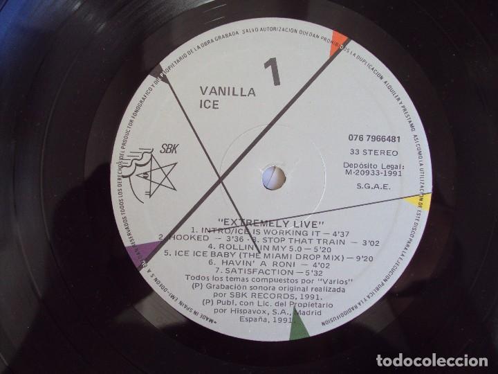 Discos de vinilo: VANILLA ICE, EXTREMELY LIVE, LP EDICION ESPAÑOLA 1991, HISPA-VOX - Foto 5 - 95513919