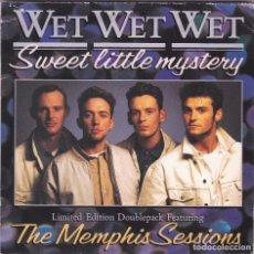 Discos de vinilo: WET WET WET,SWEET LITTLE MYSTERY Y 3 TEMAS MAS DOBLE SINGLE EDICION INGLESA DEL 88 CON FOTOS. Lote 95515707
