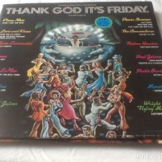 Discos de vinilo: THANK GOD IT,S FRIDAY CONTIENE 2 LPS + 1 SINGLE LP AÑO 1978. Lote 95522491