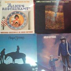 Discos de vinilo: LOTE DE 4LPS DE ARLO GUTHRIE ORIGINALES COUNTRY ROCK JOHNNY CASH. Lote 95526326