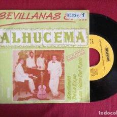 Discos de vinilo: ALHUCEMA - SABOR ANDALUZ, SEVILLANAS 87 (DIAPASON) SINGLE PROMOCIONAL. Lote 95544271