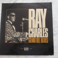 Discos de vinilo: RAY CHARLES // GENIO DEL BLUES. Lote 95554399