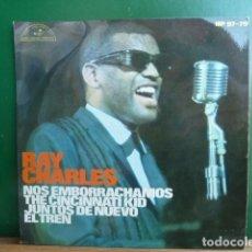 Discos de vinilo: RAY CHARLES -NO EMBORRACHAMOS -Y 3 MAS. Lote 95569983