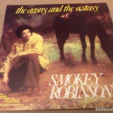 Discos de vinilo: SMOKEY ROBINSON (THE MIRACLES). THE AGONY AND THE ECSTASY / WEDDING SONG. ED ESPAÑA 1976. Lote 98811584