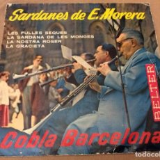 Discos de vinilo: SARDANES DE E. MORERA, LES FULLES SEQUES +3 ... BELTER 1960. Lote 95573859