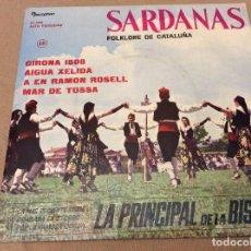Discos de vinilo: SARDANAS 12. COBLA LA PRINCIPAL DE LA BISBAL. GIRONA 1808 + 3. DISCOPHON 1963. Lote 95574207