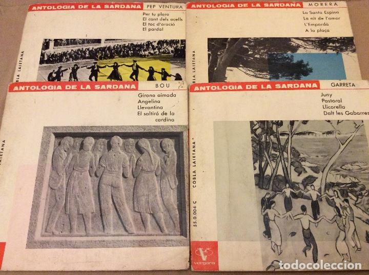 LOTE 4EPS. ANTOLOGÍA DE LA SARDANA. PEP VENTURA, MORERA, BOU, GARRETA. VERGARA 1962 (Música - Discos de Vinilo - EPs - Étnicas y Músicas del Mundo)