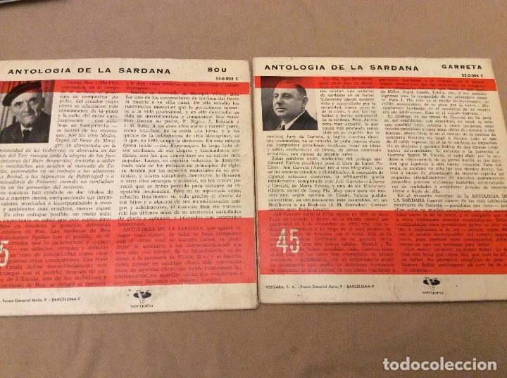 Discos de vinilo: Lote 4eps. Antología de la sardana. Pep Ventura, morera, bou, garreta. Vergara 1962 - Foto 3 - 95574379