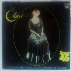 Discos de vinilo: CLAIRE - DISCO STUFF. Lote 95580307