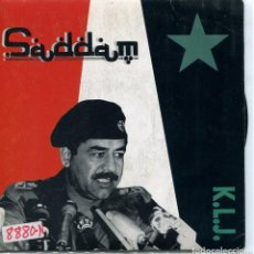 Discos de vinilo: K.L.J. / SADDAM (SPANISH RADIO VERSION) SINGLE PROMO 1990. Lote 95581983