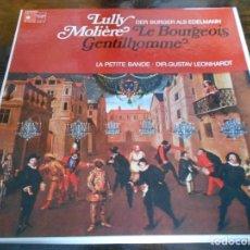 Discos de vinilo: LE BOURGEOIS GENTILHOMME. LULLY - MOLIERE. HARMONIA MUNDI. CAJA CON 2 LP'S. 780 GRAMOS.. Lote 95590419