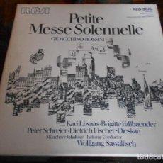 Discos de vinil: PETITE MESSE SOLENNELLE. GIOACCHINO ROSSINI. RCA. CAJA CON 2 LP'S. 690 GRAMOS.. Lote 95590727