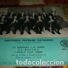 Discos de vinilo: EP COBLA BARCELONA ( DISCOTECA POPULAR CATALANA) : LA MOLINERA I EL MUSIC . Lote 95591151