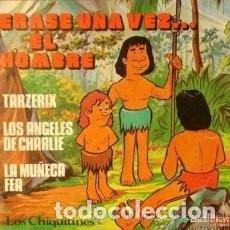 Discos de vinilo: EP LOS CHIQUITINES : ERASE UNA VEZ EL HOMBRE, LOS ANGELES DE CHARLIE, TARZERIX, LA MUÑECA FEA . Lote 95592159
