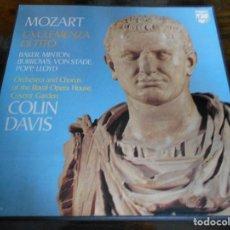 Discos de vinilo: MOZART. LA CLEMENZA DI TITO. COLIN DAVIS. PHILIPS. CAJA CON 3 LP'S. 1050 GRAMOS.. Lote 95593855